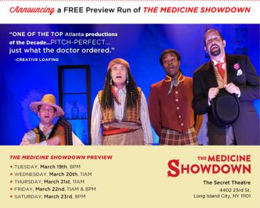 Free Tix to The Medicine Showdown at The Secret Theatre - 3/19-23